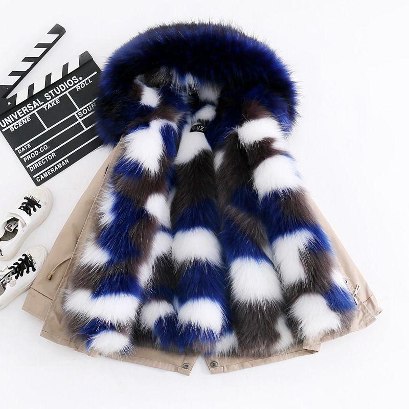 Kızlar Kış Coat Faux Fur erkek Parka Ceketler Kapşonlu Kalın Sıcak Çocuk Dış Giyim Giyim 3-14 yaşında çocuklar Giyim için