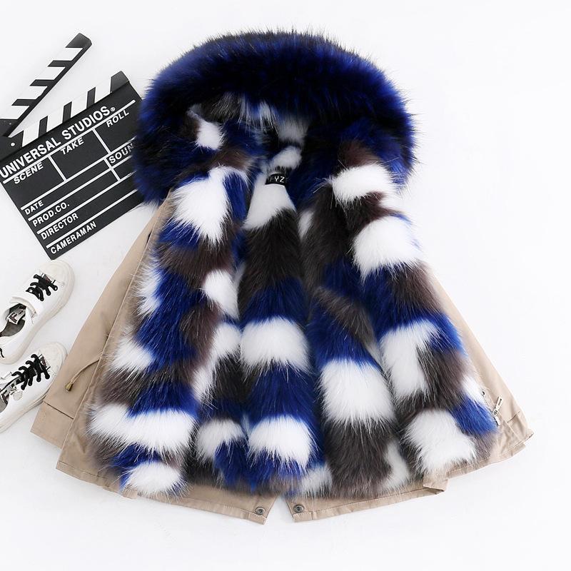 Le ragazze di inverno del cappotto pelliccia del Faux ragazzi Parka giacche con cappuccio spessore caldo dei bambini della tuta sportiva vestiti per 3-14 anni di abbigliamento dei bambini