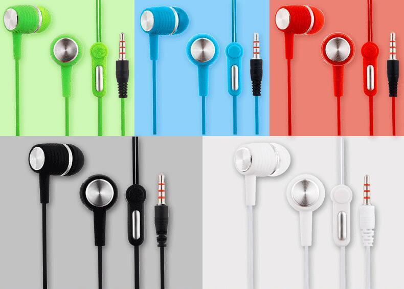 Heißer Verkauf SF-A63 SF-A64 Kopfhörer Hands Free Universal-3.5MM 6u Lautsprecher In-Ear-Kopfhörer Earbuds Kopfhörer-Stereo-Headset mit Mikrofon