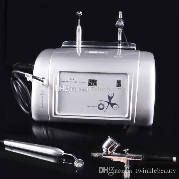 2 في 1 أوكسجين المياه الوجه آلة طائرة بيل الأكسجين تسريب الأكسجين حقن SPA آلة لتنظيف الوجه حب الشباب الجلد إزالة تجديد
