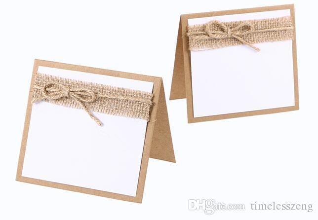 Invité Nom de la partie Table place Cartes avec du papier noir Tableau de mariage de carte Lieu Carte Numéros de décoration de mariage Holder Vintage