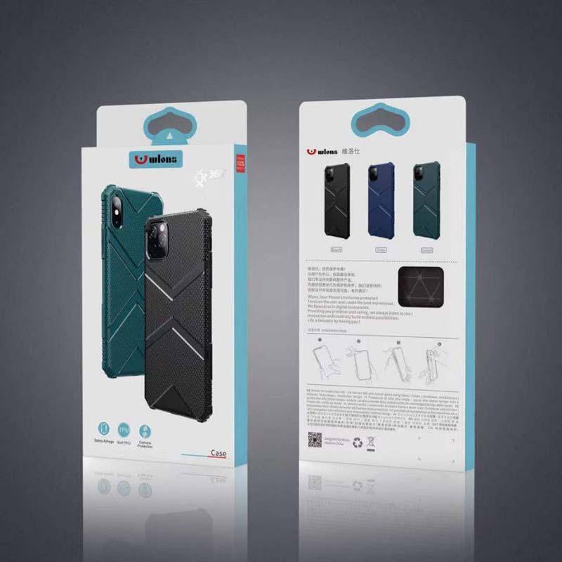 Caso de la cubierta a prueba de golpes Fundas TPU parachoques suave Equipada Airbag para iPhone 11 Pro Max 6 7 8 Plus Samsung S10 S20 Plus Nota 10Pro con Box