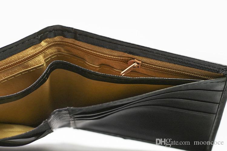 Vintage dünne Art und Weise Retro- Männer Leder-Kupplungs-Brieftasche Gutschrift Identifikation-Karten-Geldbeutel dünner Dropshipping Großhandel