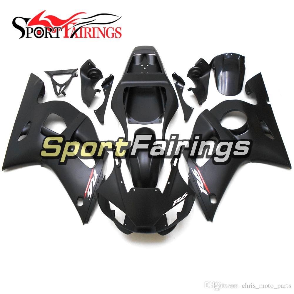 Matte Black Bike Panels Fit For Yamaha YZF-600 R6 Year 1998 1999 2000 2001 2002 Complete Plastic Fairings 1998 99 00 01 2002 Fairing Kit New