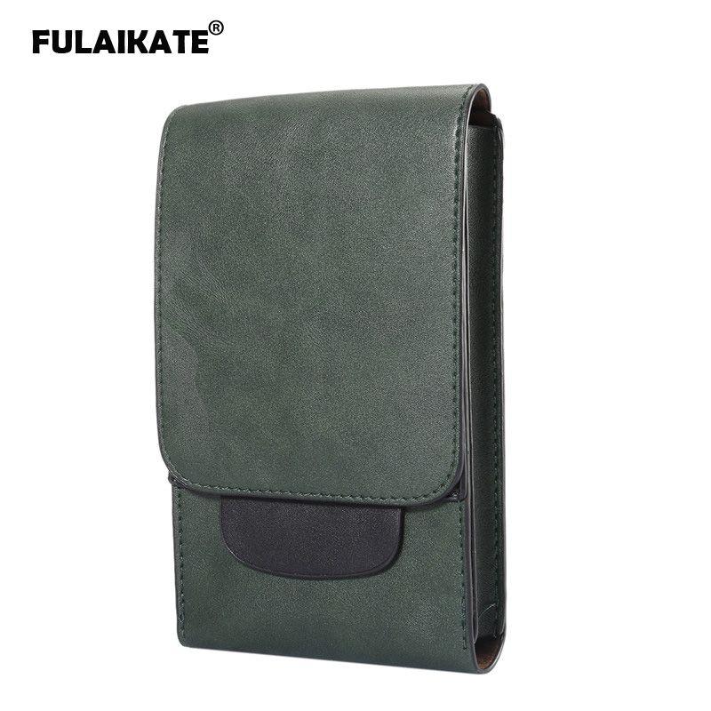 """FULAIKATE 6.3 """"حقيبة كريزي هورس للرجال العالمية لجهاز سامسونج جالاكسي نوت 8 S8 S9 بلس ريترو حقيبة الخصر ل MEGA GT-i9200"""