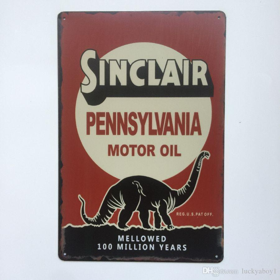 Sinclair Pennsyvania Motor Oil Retro Vintage Metal Tin sign poster for Man Cave Garage shabby chic wall sticker Cafe Bar home decor
