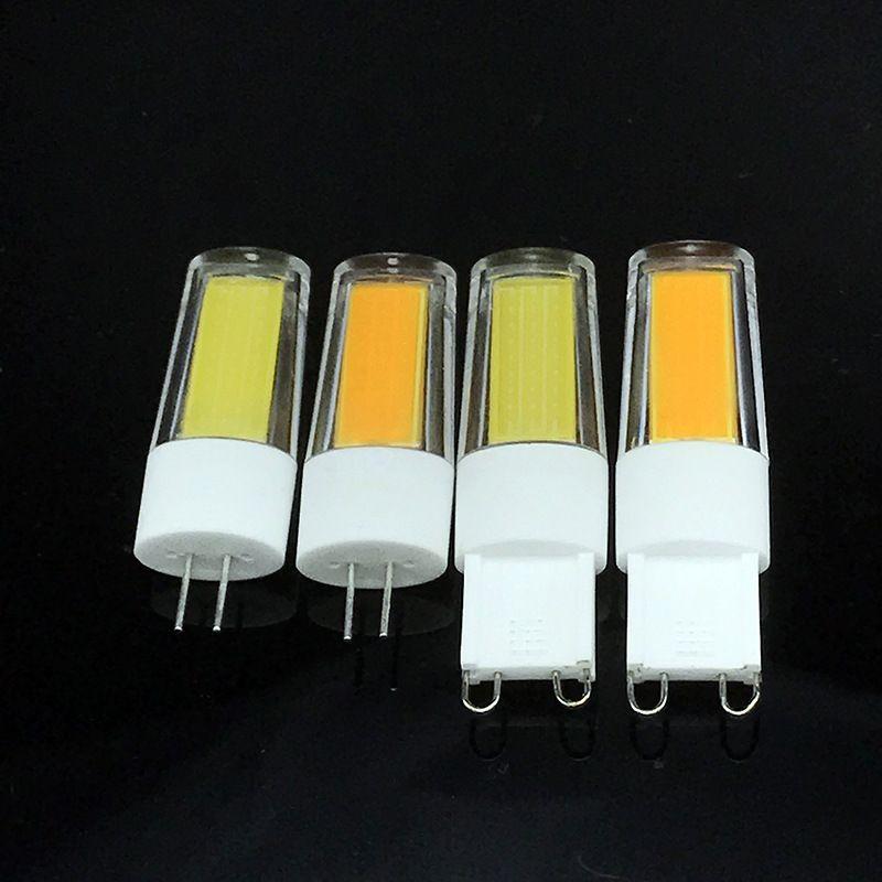 G9 3W 2609 COB 2700K 6400K LED عكس الضوء بقعة ضوء لمبات AC 220V-240V، G9 G4 قاعدة والذرة ضوء لمبة لالإنارة الرئيسية