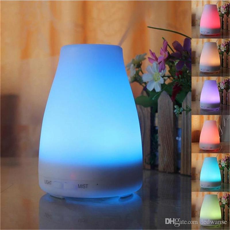 100 ml Aromathérapie Huile Essentielle Diffuseurs à ultrasons cool Humidificateur avec 7 couleurs LED pour bureaux à domicile Chambre Chambre