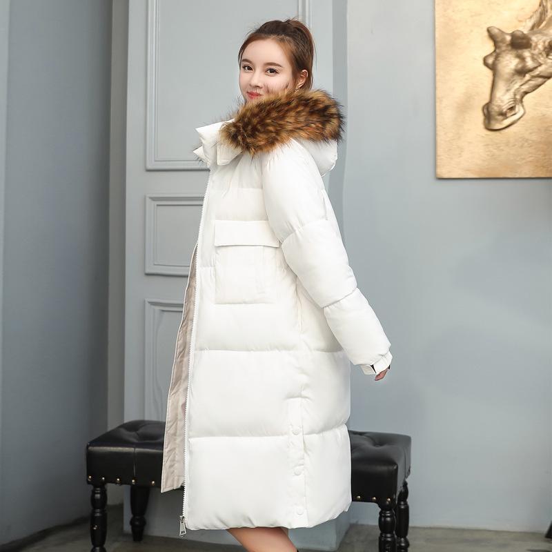 CHIC cappotto del cotone delle donne di nuovo stile 2018 giù Cappotto lungo in stile coreano allentato inverno lungo spesso over-the-ginocchio cotton-padded C