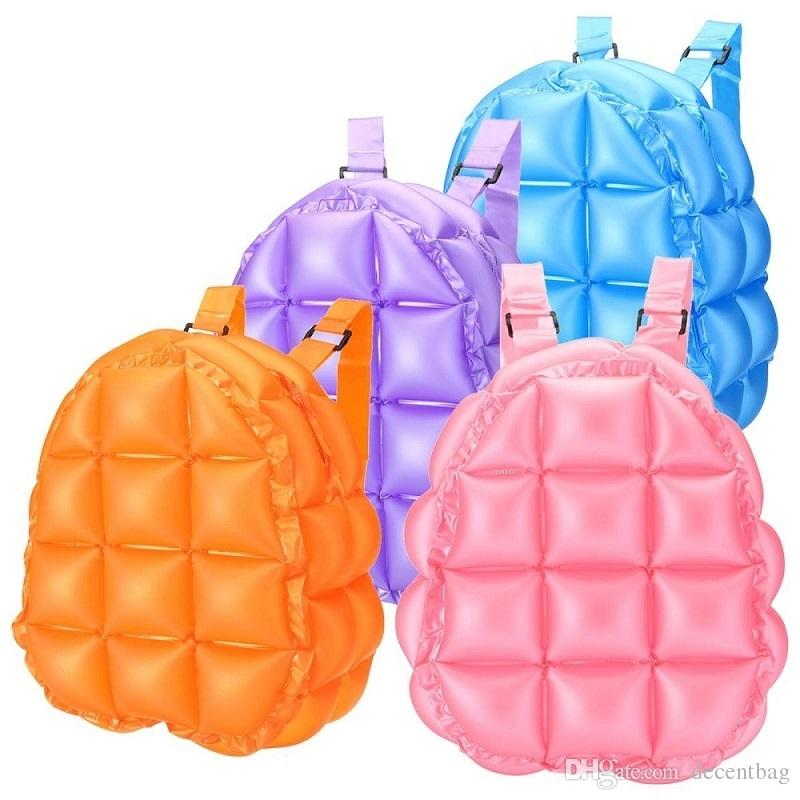 Inflatable Bubble Blow Up Backpack Retro Festive Bopping Spice Girls Space Bags for Fashion Women Ladies Leisure Street Outdoor