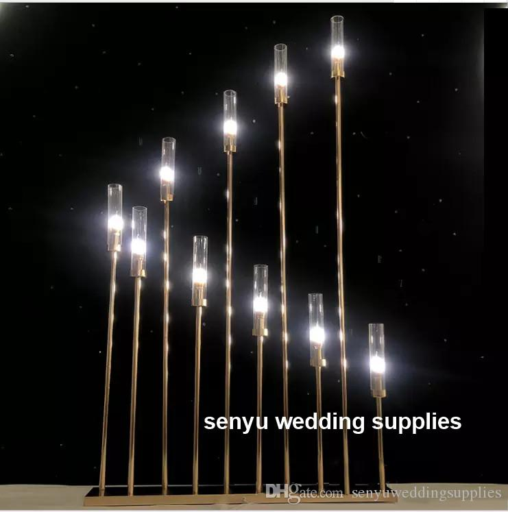 New style (no light no candle including )Gold Metal Decoration Acrylic Crystal Centerpieces For Wedding Table for wedding stage senyu0152