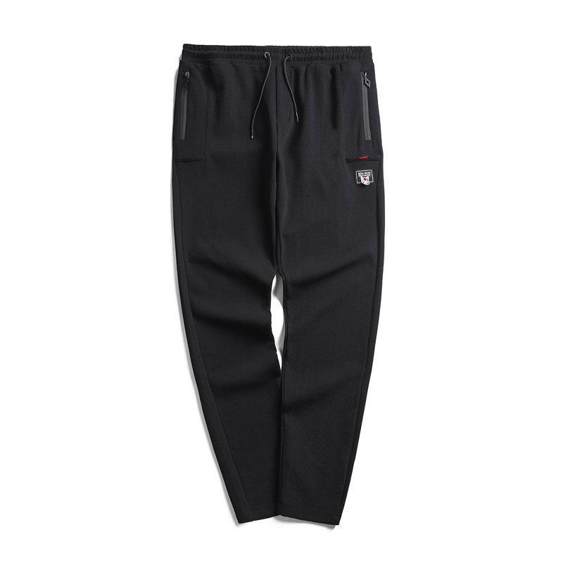 Men pants plus size 4XL 5XL 6XL 7XL Korean style 2019 Spring and autumn black casual trousers cozy male push-up pants