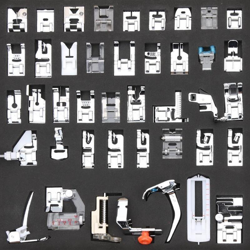 42pcs Multi-funcionais Pés Máquina de costura Presser máquina de costura pé AccessoriesProp kits para o irmão Cantor Janome