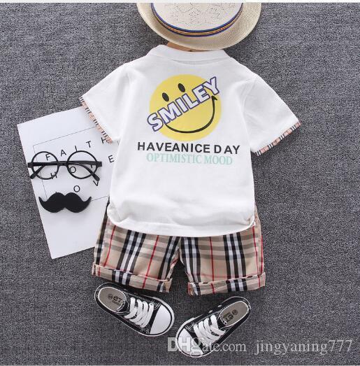 Nuevo traje de estilo occidental para niños más vendido de verano para niños, pantalones cortos de manga corta para niños, bebé, conjunto de dos piezas, tendencia