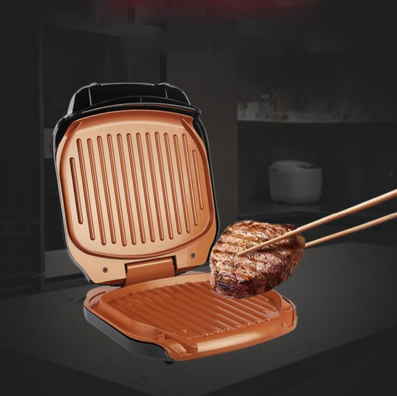 220v Elektro BBQ Grill 900W Haushalt Grill Maschine Grill Elektrokochplatte Smokeless gegrilltes Fleisch Pan