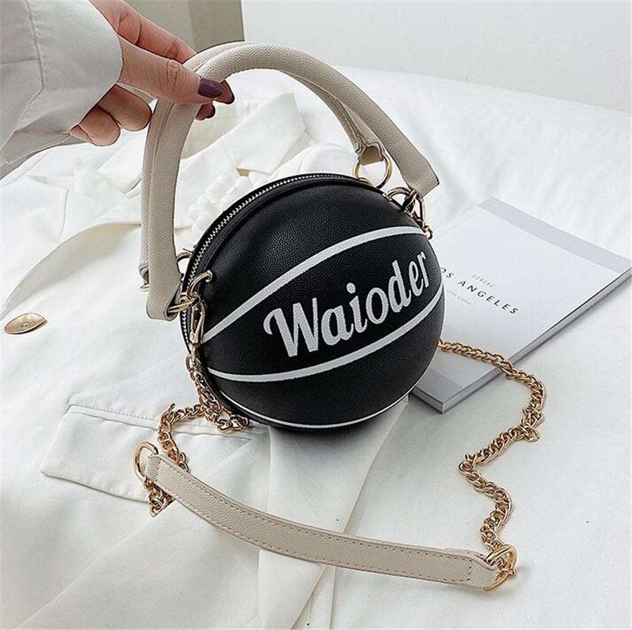 1 Pc New Womens Bags Clear Basketball Handbags Hottest Totes Pu Leather Shoulder Composite Bag 5Colors #19068