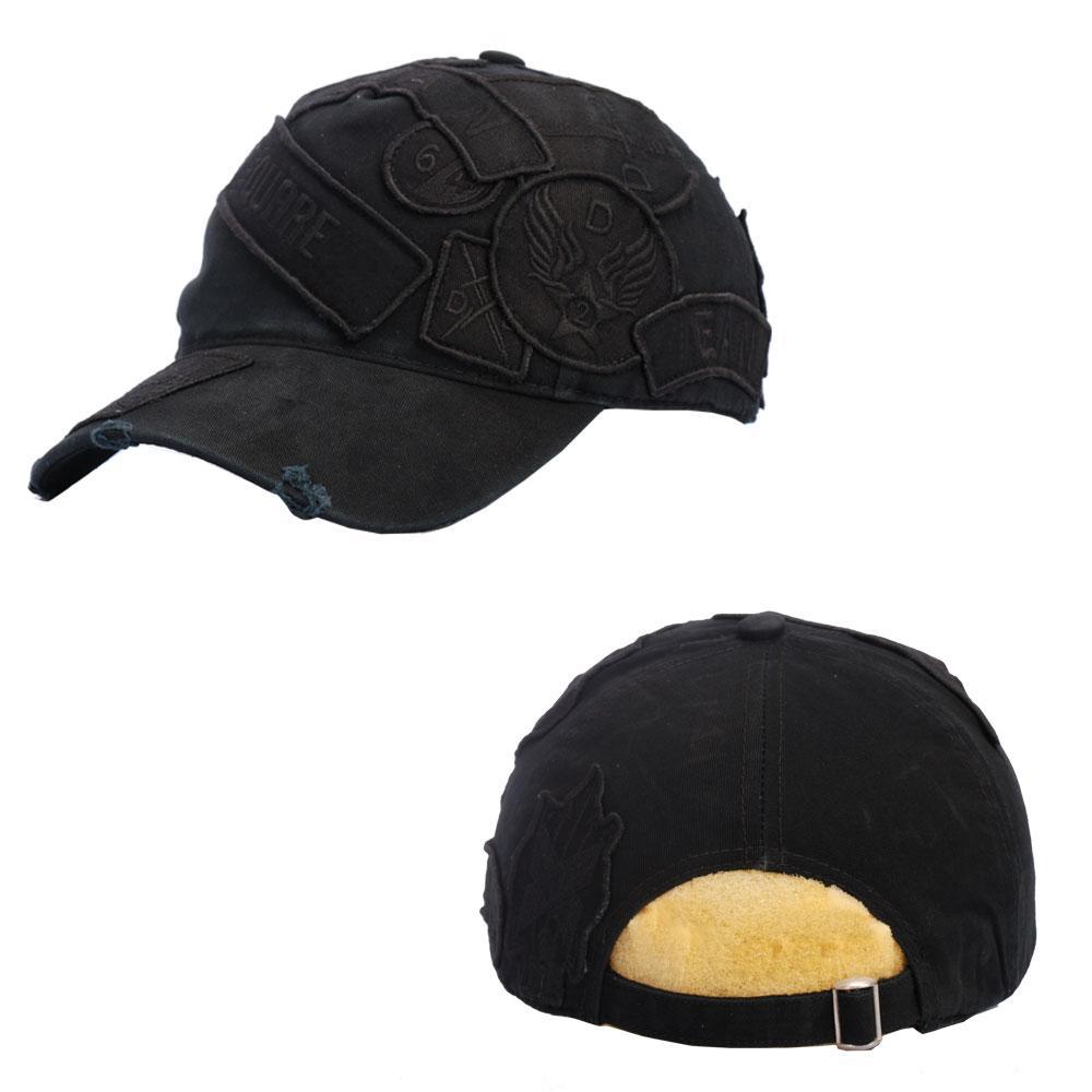 Snapback Cap Casquette golfe de alta qualidade Cotton Hat Despojos de Hat Snapback Cap Black Cap Homens de beisebol do golfe dos homens