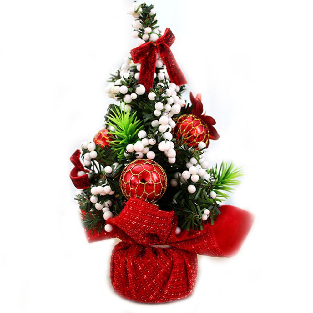 Weihnachtsdekoration Bouquet 20cm Mini Weihnachtsdekoration Baum für Tisch Schreibtisch Tops JA55