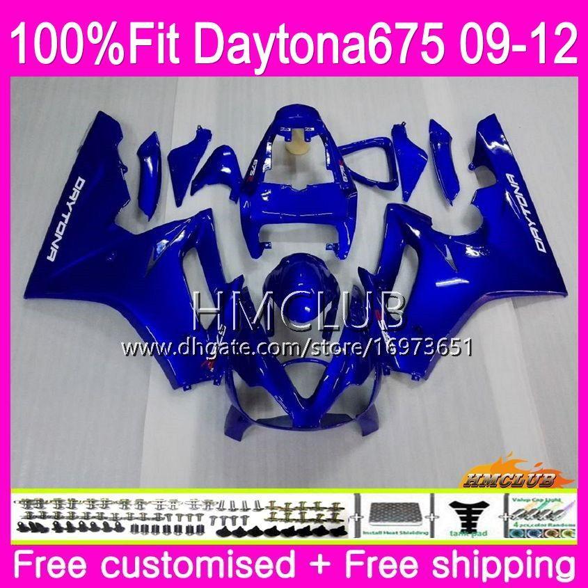 Injection For Triumph Daytona 675 09 10 11 12 Bodywork 44HM.8 Daytona-675 Daytona675 Daytona 675 2009 2010 2011 2012 Factory blue Fairing