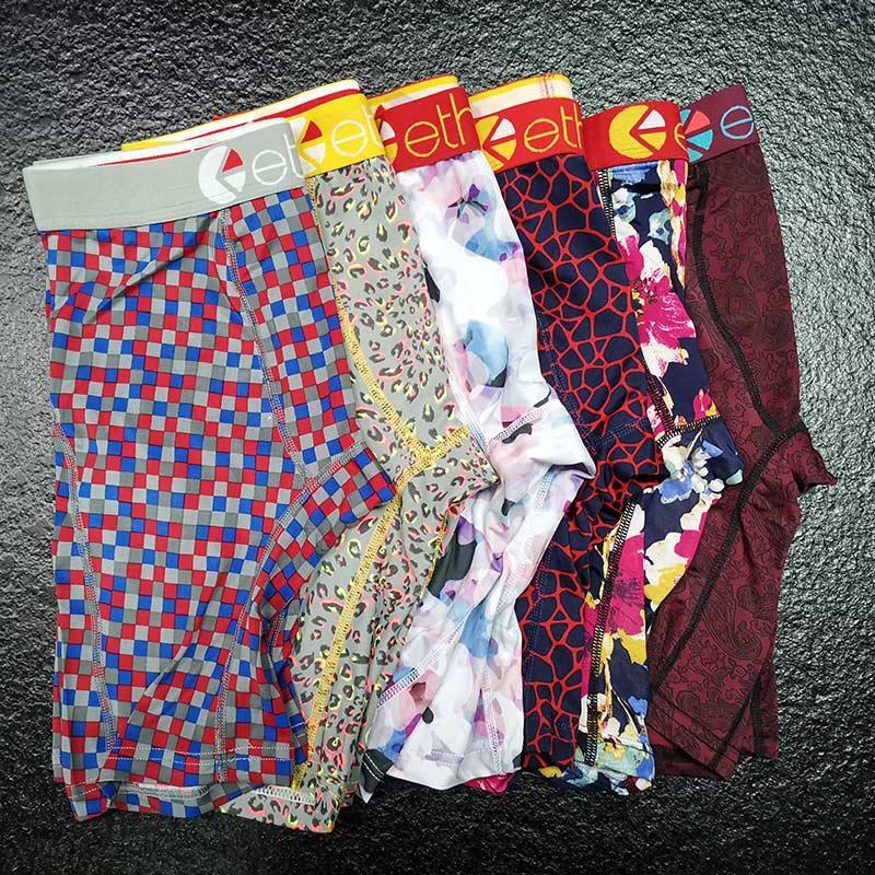 2020 zufällige Farbe Mens Designer Ethika Boxer-Unterwäsche Shorts Herren Male Unterwäsche-Mann-Boxer-Unterhosen bequemer Breathable Cuecas Boxer