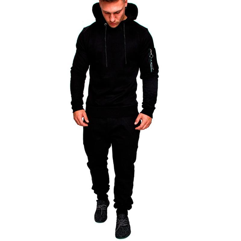 Mens Designer dünner Anzug Art und Weise Mens-beiläufige Klage 2pcs beiläufige Homme Sportkleidung