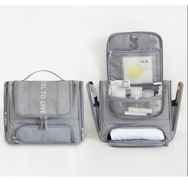 Trocken- und Nass Trennung Bad Körperpflege-Kasten für Lady Large Travel Cosmetic Beauty Kit hängend mit Haken Vanitry Tasche
