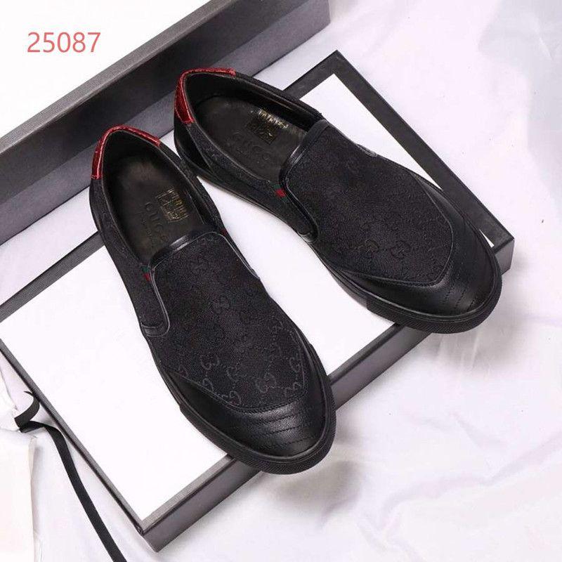 gucci Big Top Qualité taille 38-45 chaussures ace cuir chaussures pour hommes en plus des chaussures taille occasionnels avec sac à poussière boîte A69Q