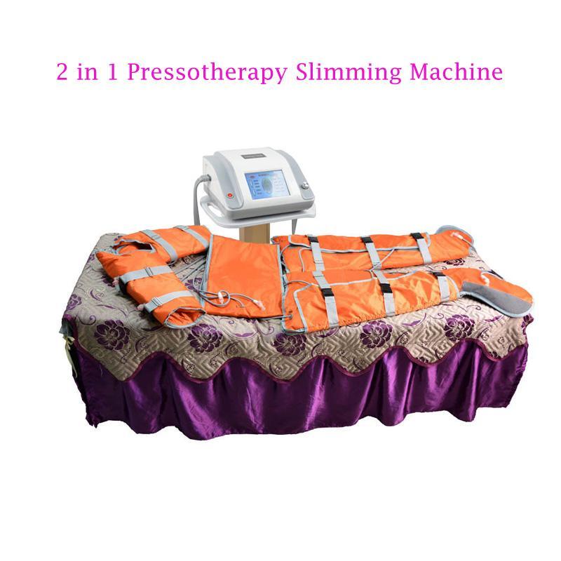 2 em 1 pressoterapia pressão de ar de luz infravermelho distante para drenagem linfática equipamento de massagem spa corpo emagrecimento