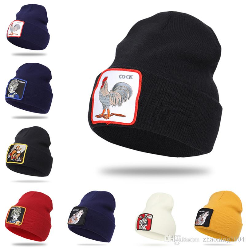 Red Animal Cartoon Men /& Women Skull Caps Winter Warm Stretchy Knit Beanie Hats