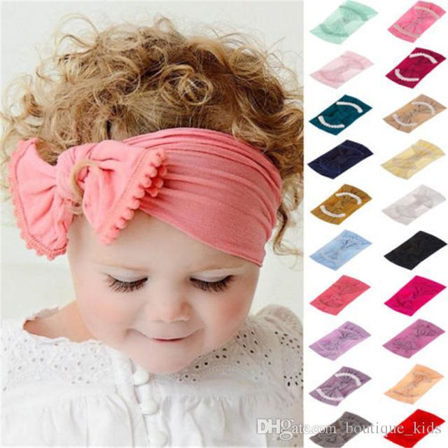 US Newborn Kid Infant Bow-knot Headband Infant Toddler Knot Hairband Turbon Knot