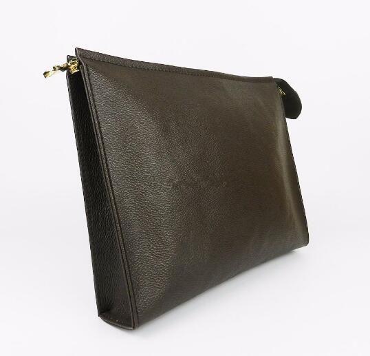 top sale Wallet letter flower Coffee Black lattice mens bags women wallets Cosmetic bag zipper Handbags purses with box