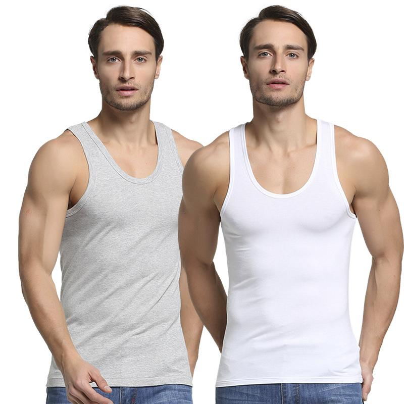 2019 Summer Men Cotton Undershirt Mens Sleeveless Tops Male Muscle Vest Gym clothing Casual Shirt Underwear for man