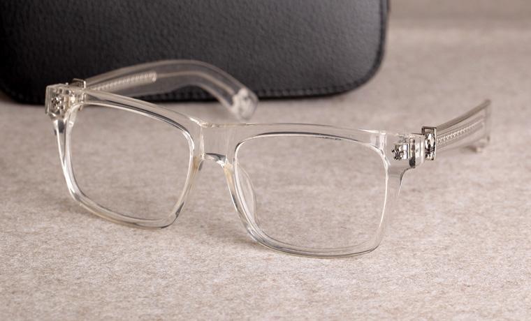 Nuevas gafas de marco de anteojos Chrome marco de las lentes de lente transparente marco Hombres Mujeres La miopía de los vidrios con el caso original 08