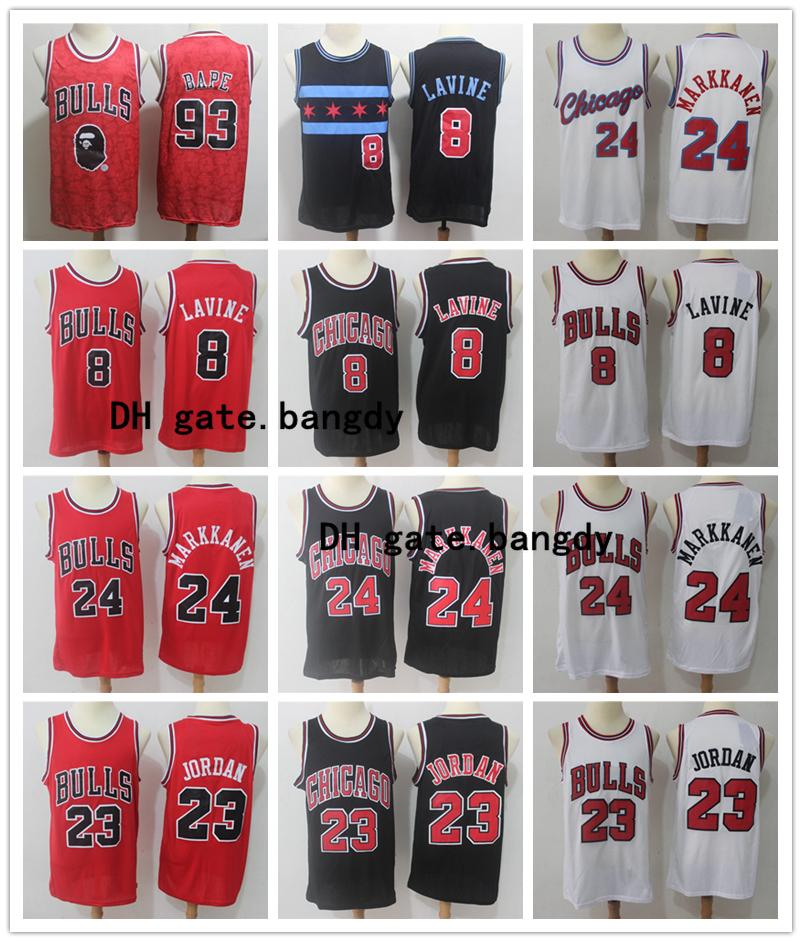 Città 2020 Mens Michael 23nbaChicagoBulls Jodan Jersey Zach 8 Lavine 23 Michael Scottie Pippen 33 Basketball Maglie jd mj