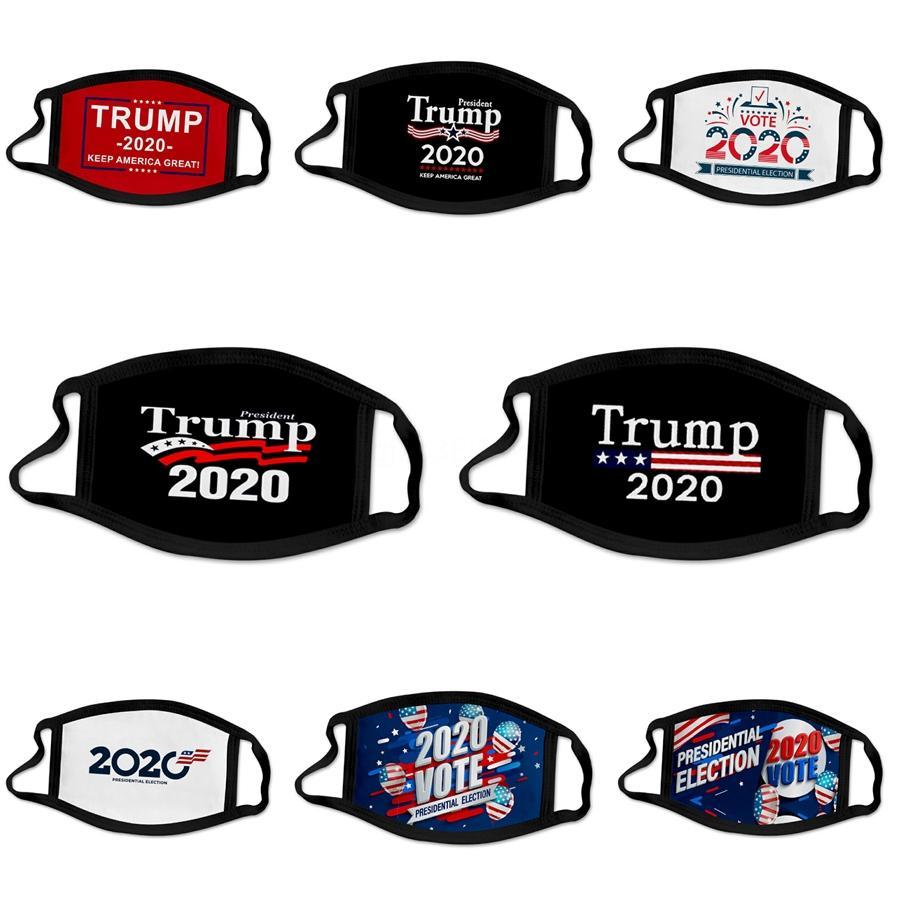 Дизайнер Trump Face Mask Открытый 100% хлопок моющийся многоразовые тряпичные маски защиты от пыли Пыльца перхоть # 267