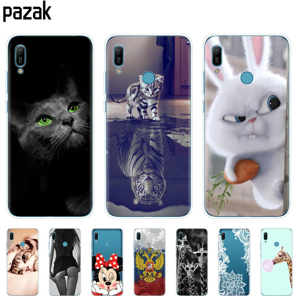 più foto 31175 aed0b Huawei Y6 2019 Case Huawei Y6 2019 Silicone TPU Cover Soft Phone Case For  Huawei Y6 2019 MRD LX1 MRD LX1F Y 6 For Y6Prime Case Western Cell Phone ...
