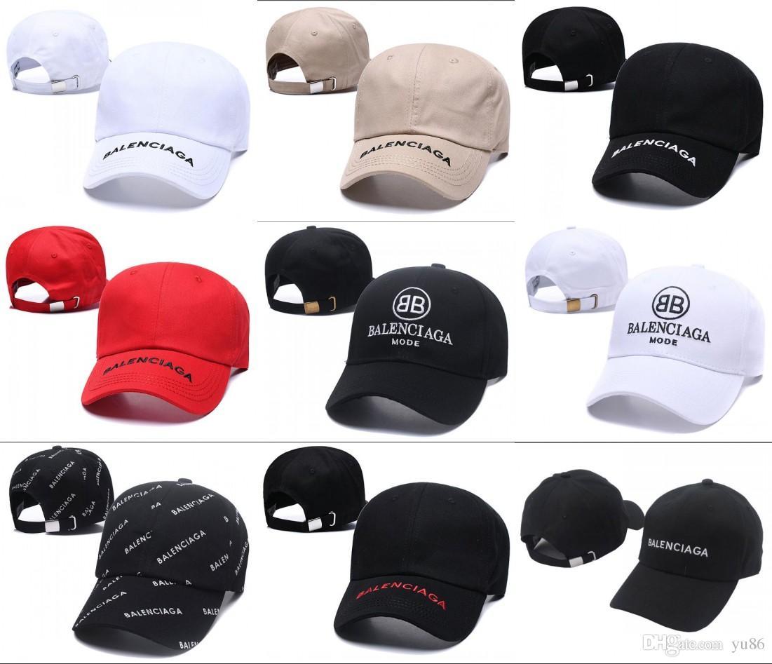 2019 marcas BNIB chapéu cap Wave cola logotipo 17FW Hommes Mens Senhoras Unisex Red bonés de Baseball strapback matéria preta bordado chapéu casquette