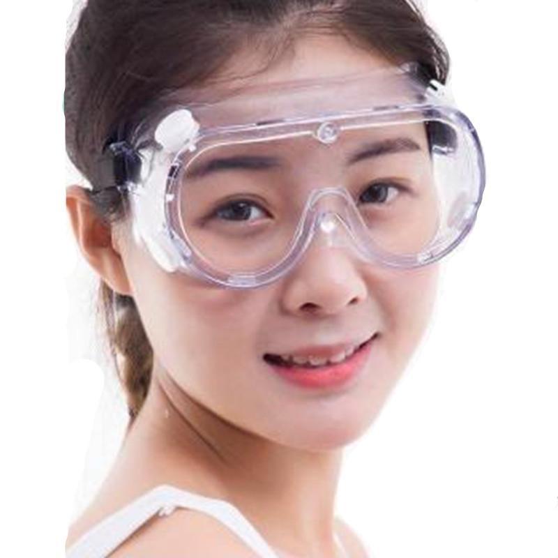 Em armazém à prova de salpicos Anti-gota totalmente vedados Anti Fluid Safety Goggles Anti Nevoeiro Poeira Óculos Protecção dos olhos Trabalho Eyewear rápida entrega