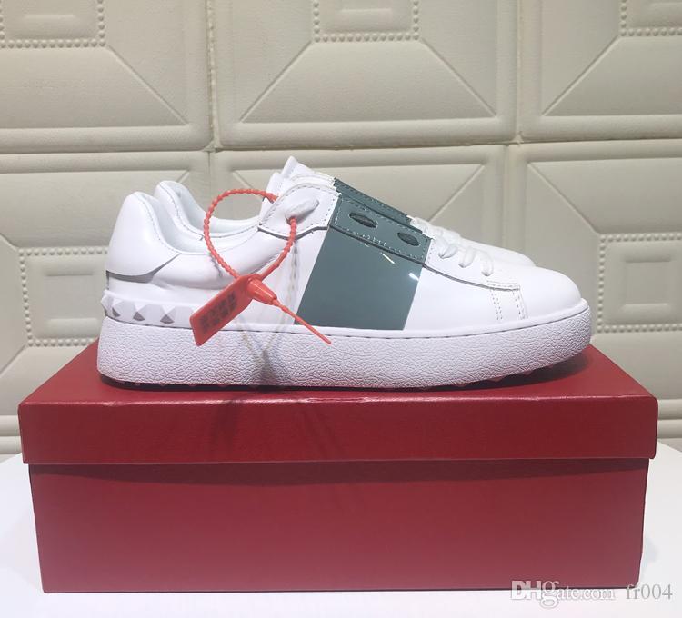 Новых роскошного PORTOFINO дизайнер кроссовка женщины реальной кожи печать красочные мужчины случайной обувь Итальянцы обувь на продаже с оригинальной коробкой