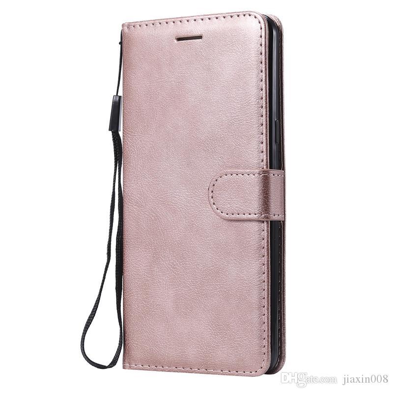 Para Samsung Galaxy C9 Pro Casas de teléfono celular Flip Cover Billet Stand Pure Color PU Cuero Bolsas Móviles Coque Fundas