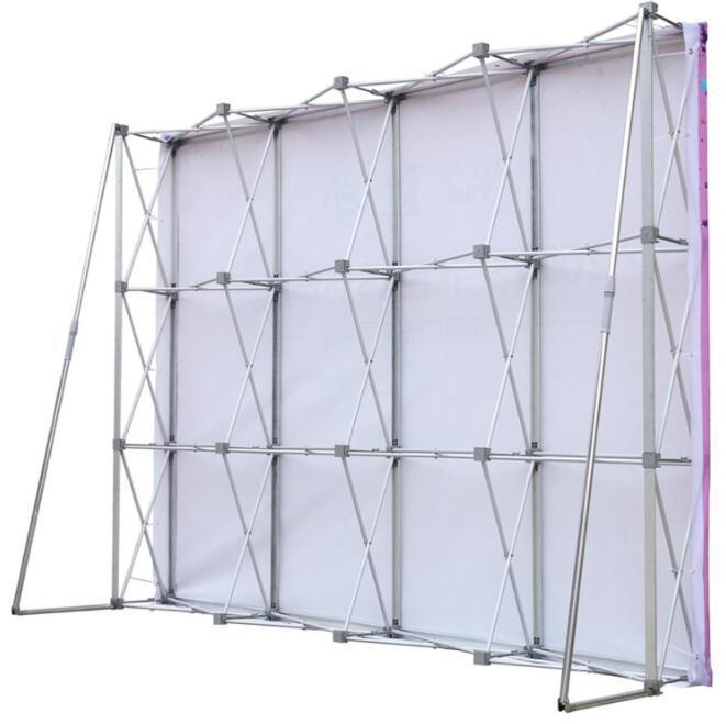 Aleación de aluminio de soporte plegable al aire libre Pantalla boda Bastidores Para pared de la flor de boda del tamaño del marco Contexto De 230cm * 230cm puede ser personalizado