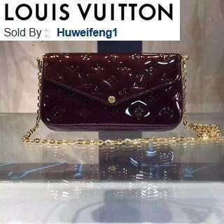 huweifeng1 opp GM M61267 wine red patent leather HANDBAGS SHOULDER MESSENGER BAGS TOTES ICONIC CROSS BODY BAGS TOP HANDLES CLUTCHES EVENING