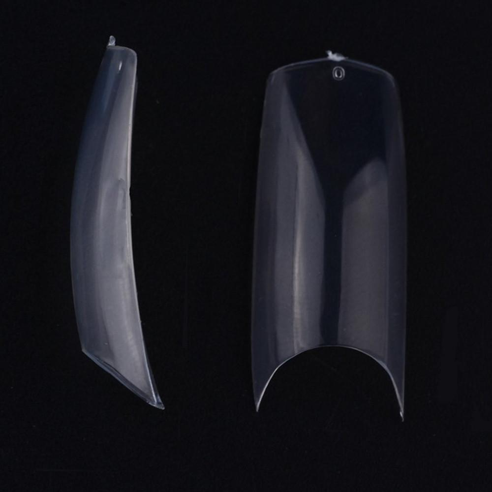 wholesale 100Packs Clear Natural U-Shape Nail Tips Half Cover Acrylic UV Gel False Nails 10 Sizes Nail Salons DIY Nail Art A0018XX