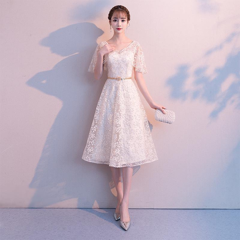 2020 Limited Dress Celebrity Small Dress Party Evening In The Winter Of 2020 A New Simple And Easy Socialite Birthday Short