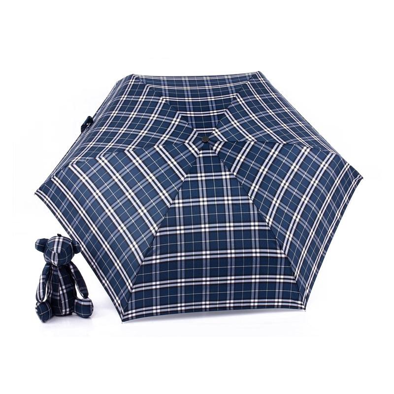 Süße Mini 5 Klappbär Regenschirm Für Kinder Studenten Frauen Tragbare Hängende Tierspielwaren Tasche Tasche Parasol Anti-UV Sonnenregen