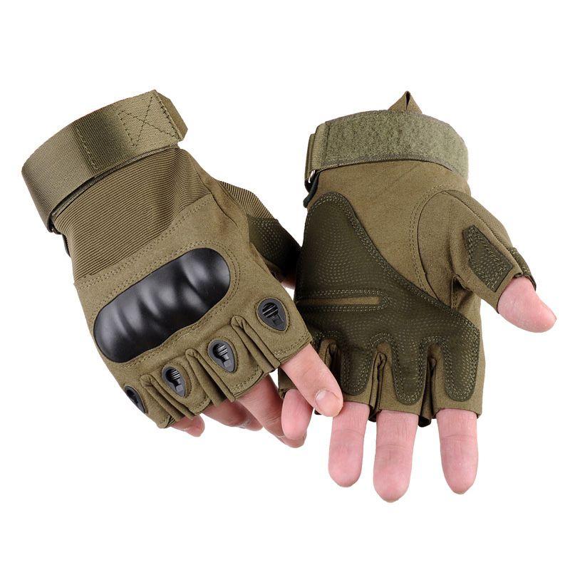 Taktische Handschuhe Fingerless halbe Finger-Sicherheit im Freien Sport Anti-Rutsch-Handschuh Wandern Klettern Handschuhe für Fahrrad-Fahrrad-Motorrad Angeln