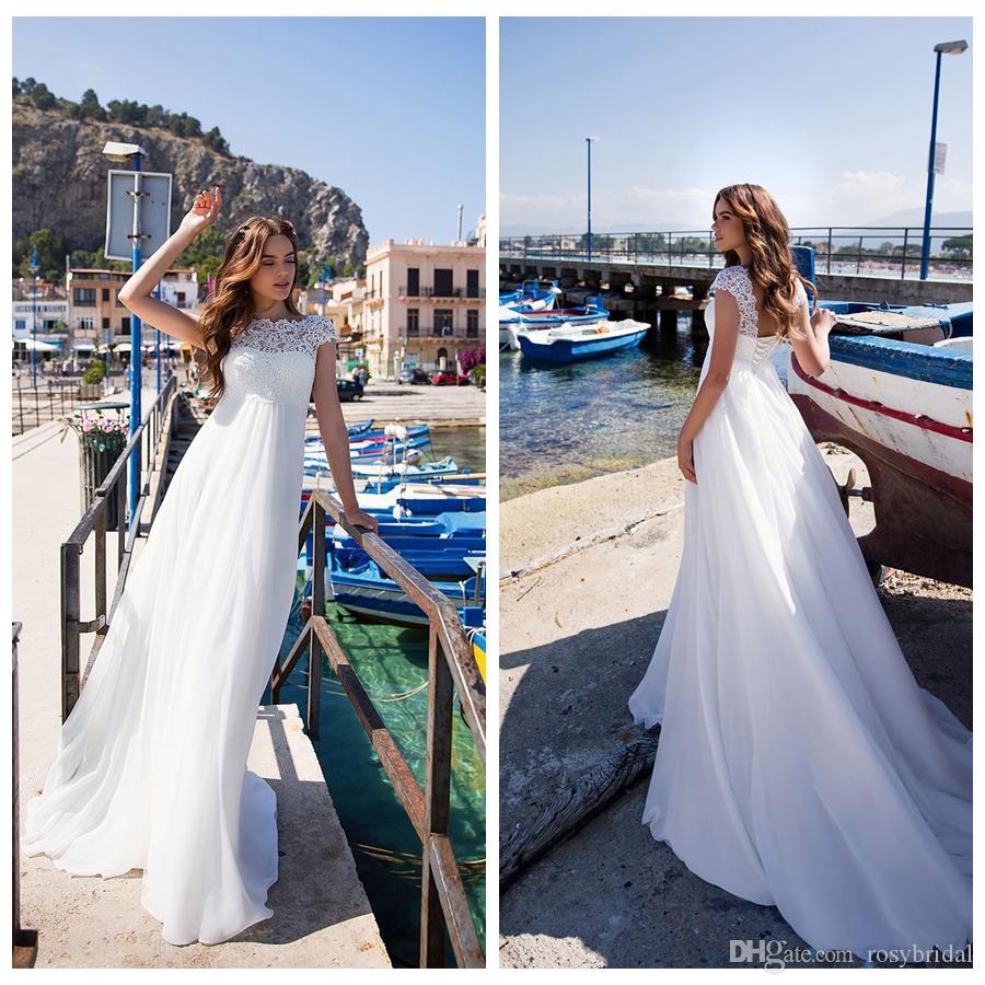 Романтический жемчужина с воротником и рукавом Свадебные платья Индивидуальные кружевные аппликации Sexy Back Свадебное платье Robe de Mariee 2019