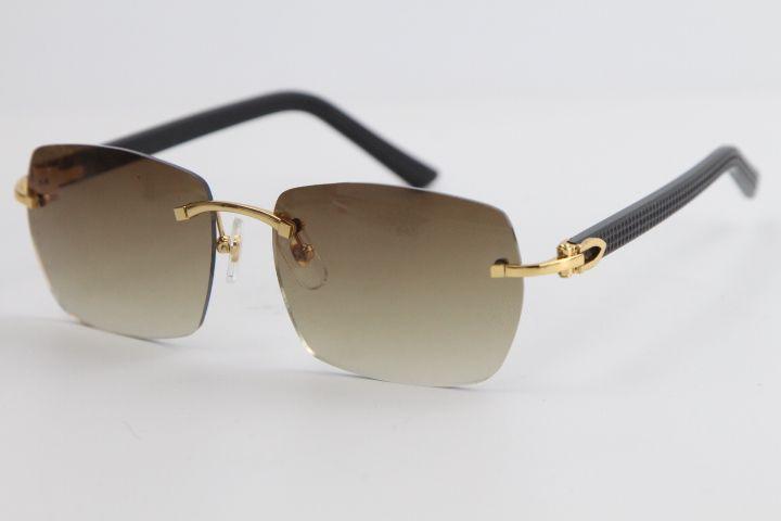공장 도매 무테 선글라스 8100905 격자 무늬 판자 대형 광장 선글라스 남성과 여성의 높은 품질 안경 남여 디자인