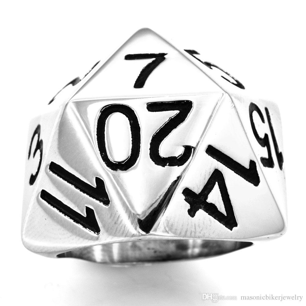 FANSSTEEL из нержавеющей стали старинные мужские wemens цифры печатка ювелирные украшения кольцо в форме треугольника число имени байкер масонской кольцо FSR12W13