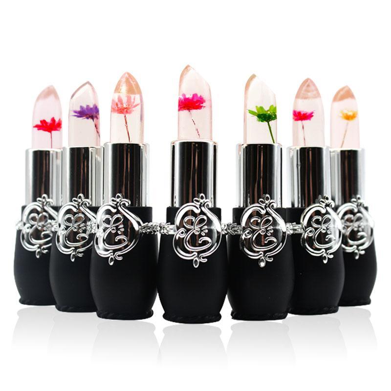 minfei New Makeup Temperature Change Color Flower Lipstick Brand Waterproof Moisturizer Transparent Jelly Lip Stick Batom